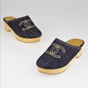 Chanel Denim Clogs Size 41